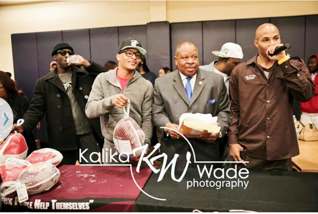 T.I., Commissioner Stan Watson & REEC Give Away Turkeys!