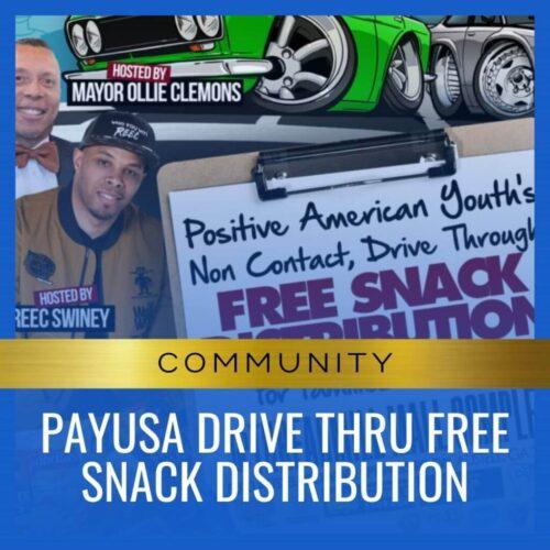 PayUSA Drive Thru Free Snack distribution